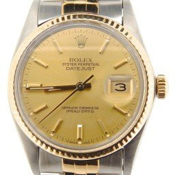 Mens Rolex Two-Tone 18K/SS Datejust Champagne  16013 (SKU 8532259NBCMT)