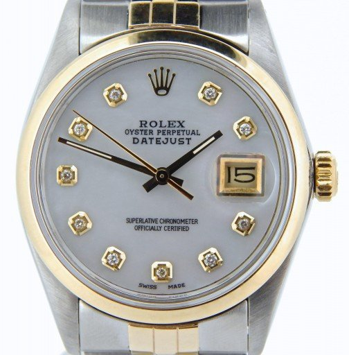 Rolex Two-Tone Datejust 16013 White Diamond-1