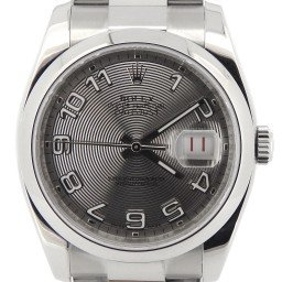 Mens Rolex Stainless Steel Datejust Silver Arabic 116200 (SKU M202537NMT)