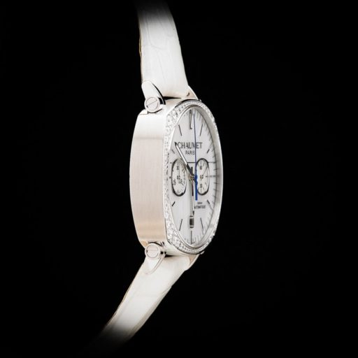 Chaumet_Dandy_18K_White_Gold_3_Carats_of_Original_Diamonds_Automatic_Chronograph_Date_3