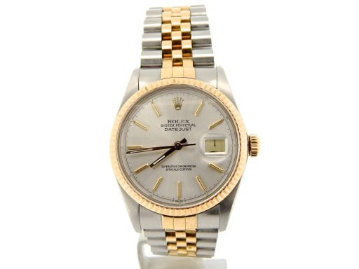Rolex Two-Tone Datejust 16013 Silver -8