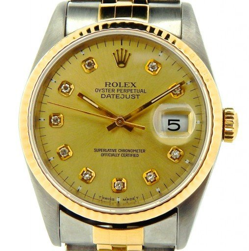 Rolex Two-Tone Datejust 16233 Champagne Diamond-1