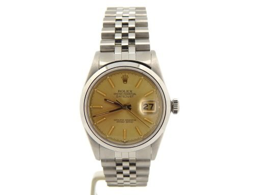 Rolex Stainless Steel Datejust 16030 Champagne -7
