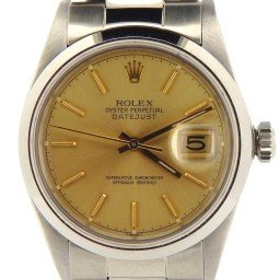 Mens Rolex Stainless Steel Datejust Champagne  16030