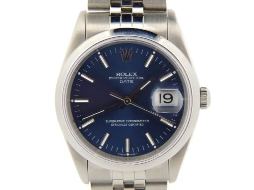 Rolex Stainless Steel Date 15200 Blue -1