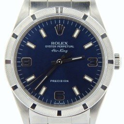 Mens Rolex Stainless Steel Air-King Blue Arabic 14010M (SKU Y247393NCMT)
