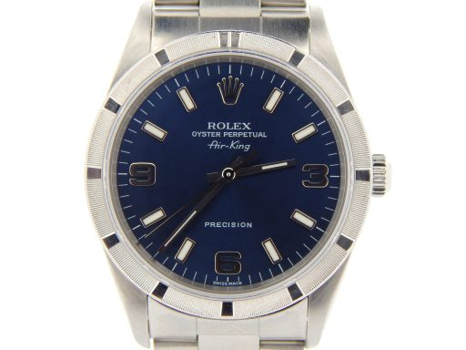 Rolex Stainless Steel Air-King 14010M Blue-1