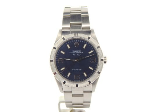 Rolex Stainless Steel Air-King 14010M Blue-8