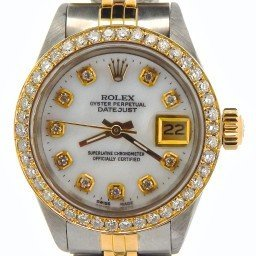 Ladies Rolex Two-Tone 14K/SS Datejust White MOP Diamond 6917 (SKU 3228984NMT)