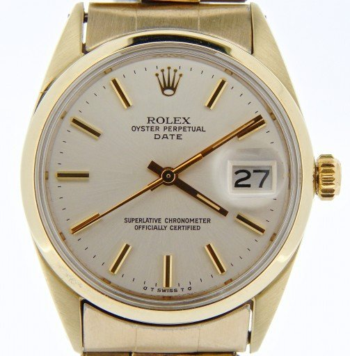 Rolex Gold Shell Date 1550 Silver-1