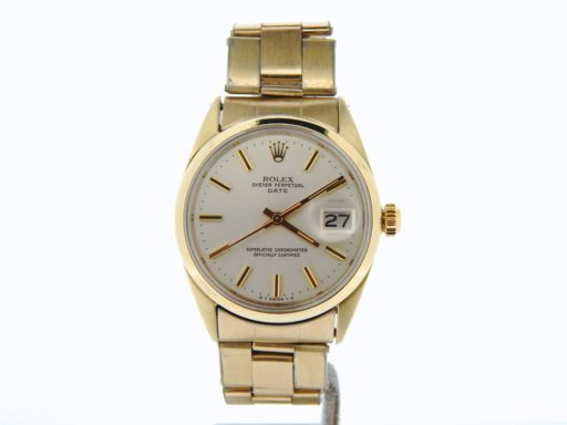 Rolex Gold Shell Date 1550 Silver-6