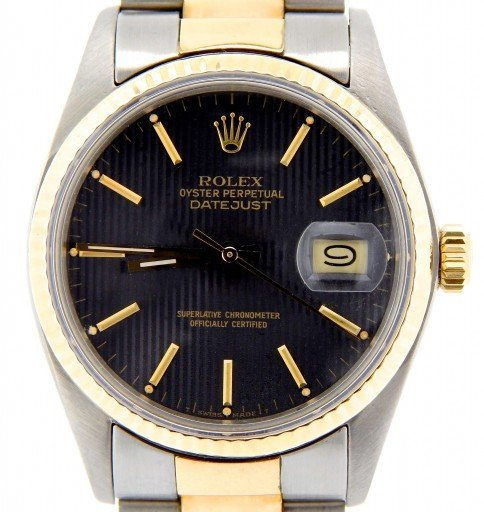 Rolex Two-Tone Datejust 16013 Black -1