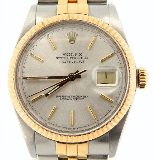Rolex Two-Tone Datejust 16013 Silver -1