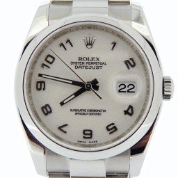 Mens Rolex Stainless Steel Datejust White Arabic 116200 (SKU M202537N03MT)