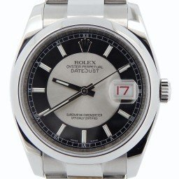 Mens Rolex Stainless Steel Datejust Black & Silver  116200 (SKU M202537N01MT)