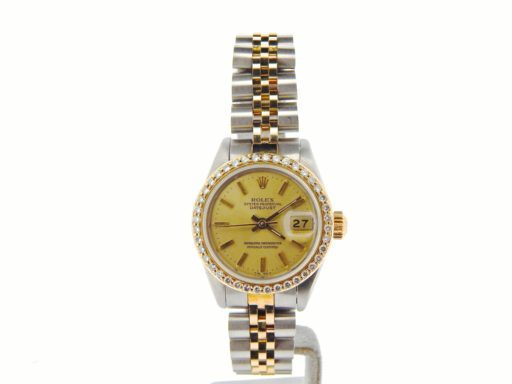 Rolex Two-Tone Datejust 69173 Diamond Champagne-6