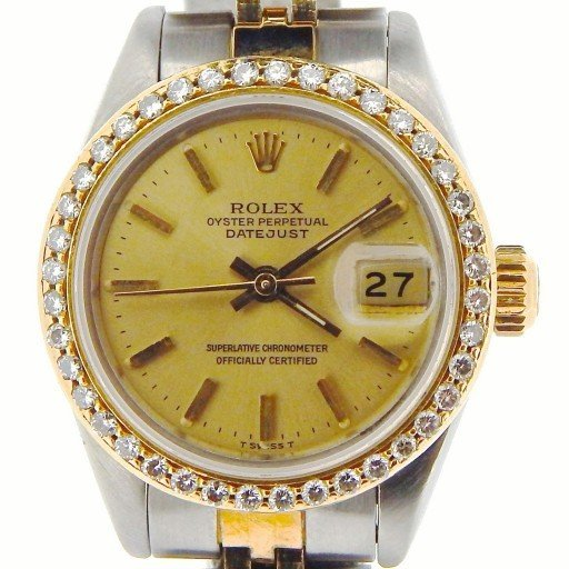 Rolex Two-Tone Datejust 69173 Diamond Champagne-1
