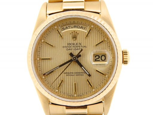 Rolex 18K Yellow Gold Day-Date President 18238 Champagne -1