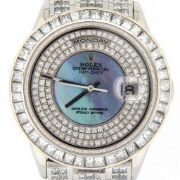 Mens Rolex Day Date Ref 18206 Platinum President 35ct Full Diamond (SKU U701097NMT)