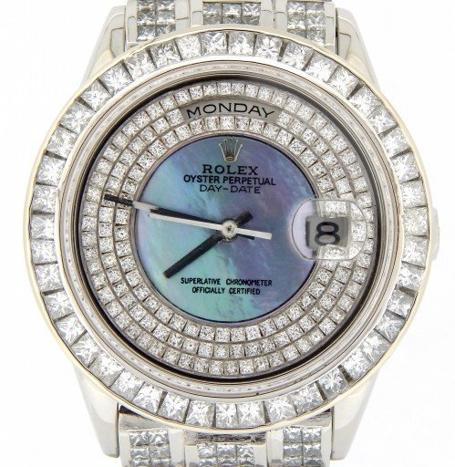 Rolex Platinum Day-Date President 18206 Full Diamond-1
