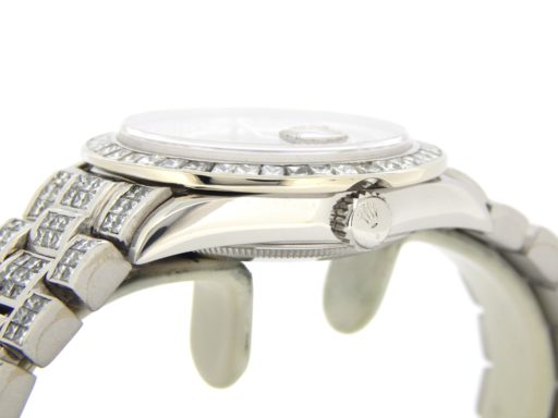 Rolex Platinum Day-Date President 18206 Full Diamond-2