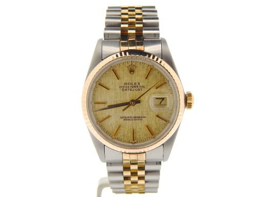Rolex Two-Tone Datejust 16013 Champagne -7