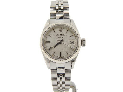 Rolex Stainless Steel Date 6917 Silver -8