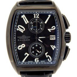 Mens Balmer Black Stainless Steel Watch w/Black Arabic Dial (SKU BALCONNBLK)