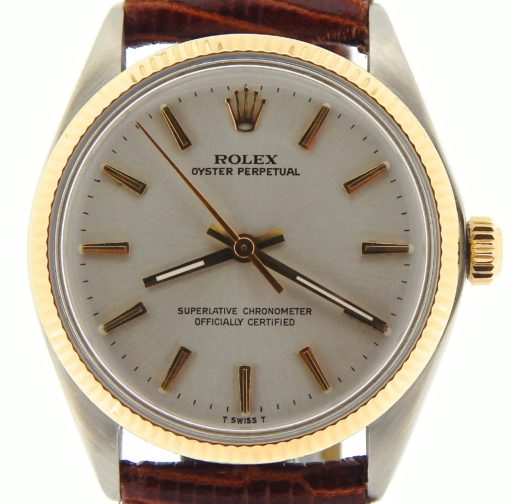 Rolex Two-Tone Oyster Perpetual 1005 Silver -1