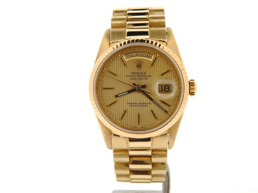 Rolex 18K Yellow Gold Day-Date President 18238 Champagne -9