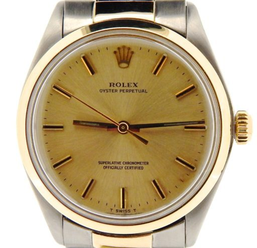 Rolex Two-Tone Oyster Perpetual 1002 Champagne -1