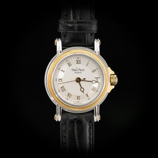 Paul_Picot_Geneve_Atelier_Classic_Stainless_Steel_18K_Yellow_Gold_Automatic_Date_27mm_Case_Black_Strap_1