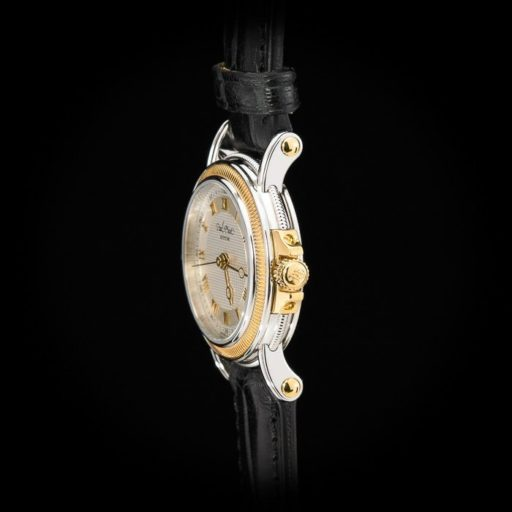 Paul_Picot_Geneve_Atelier_Classic_Stainless_Steel_18K_Yellow_Gold_Automatic_Date_27mm_Case_Black_Strap_2