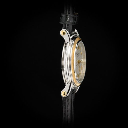 Paul_Picot_Geneve_Atelier_Classic_Stainless_Steel_18K_Yellow_Gold_Automatic_Date_27mm_Case_Black_Strap_3