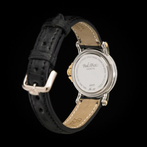 Paul_Picot_Geneve_Atelier_Classic_Stainless_Steel_18K_Yellow_Gold_Automatic_Date_27mm_Case_Black_Strap_4