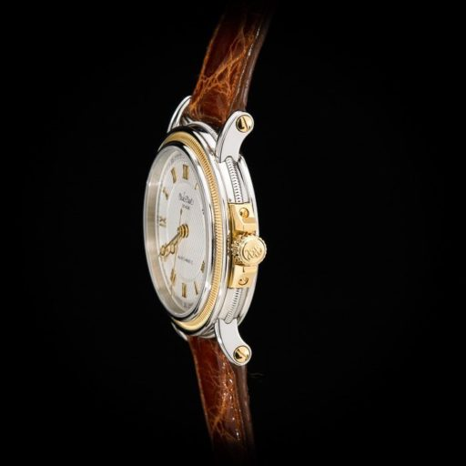 Paul_Picot_Geneve_Atelier_Classic_Stainless_Steel_18K_Yellow_Gold_Automatic_Date_33mm_Case_Brown_Strap_2