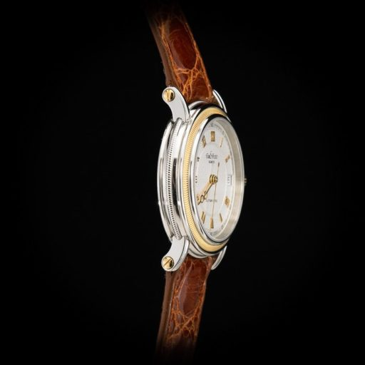 Paul_Picot_Geneve_Atelier_Classic_Stainless_Steel_18K_Yellow_Gold_Automatic_Date_33mm_Case_Brown_Strap_3