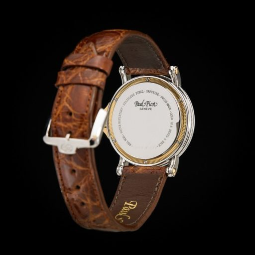 Paul_Picot_Geneve_Atelier_Classic_Stainless_Steel_18K_Yellow_Gold_Automatic_Date_33mm_Case_Brown_Strap_4