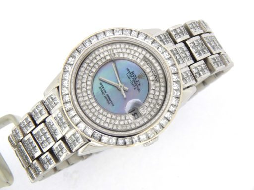 Rolex Platinum Day-Date President 18206 Full Diamond-6
