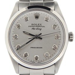 Mens Rolex Stainless Steel Air-King Silver Diamond 5500 (SKU 9762957NOYSCMT)