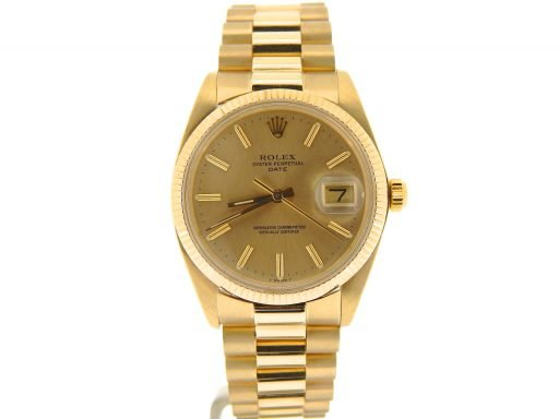 Rolex 14K Yellow Gold Date 1503 Champagne -6