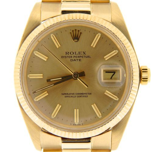 Rolex 14K Yellow Gold Date 1503 Champagne -1