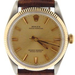 Mens Rolex Two-Tone 14K/SS Oyster Perpetual Champagne  1005
