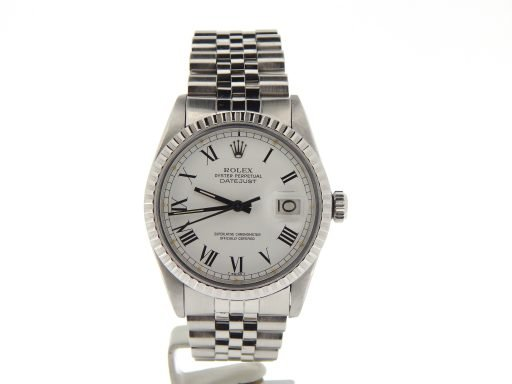 Rolex Stainless Steel Datejust 16030 White Roman-7