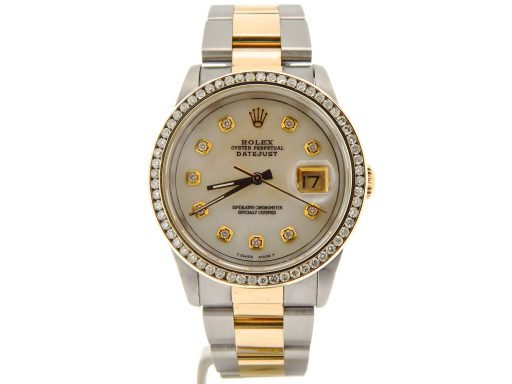 Rolex Two-Tone Datejust 16233 White MOP Diamond-7