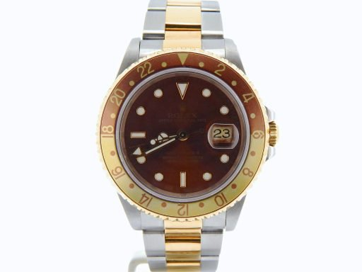 Rolex Two-Tone GMT Master II 16713 Brown -7