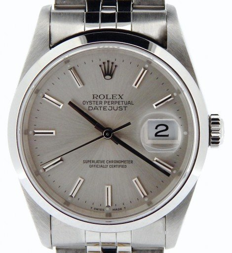 Rolex Stainless Steel Datejust 16200 Silver -1