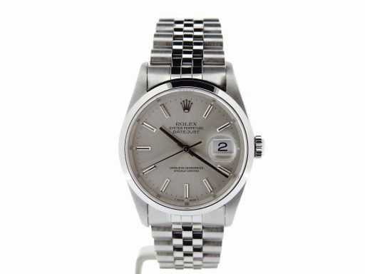 Rolex Stainless Steel Datejust 16200 Silver -6