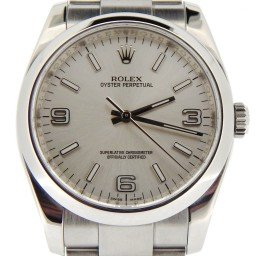 Mens Rolex Stainless Steel Oyster Perpetual Silver Arabic 116000 (SKU M701882OYSNNCMT)