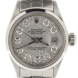 Ladies Rolex Stainless Steel Datejust Silver Diamond 6916 (SKU 2965181NOYSMT)
